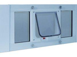Ideal Sash Cat Window Door with 4-way Locking Flap